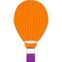download Hot Air Balloon clipart image with 270 hue color
