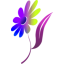 download Flower clipart image with 225 hue color