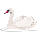 download Swan Swimming clipart image with 315 hue color