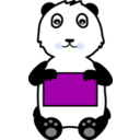 download Panda Holding A Sign clipart image with 225 hue color