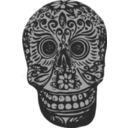 download Tatoo Skull clipart image with 225 hue color