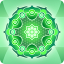 download Simple Green Mandala clipart image with 45 hue color