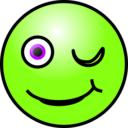 download Emoticons Winking Face clipart image with 45 hue color