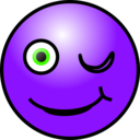 download Emoticons Winking Face clipart image with 225 hue color