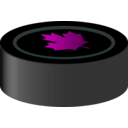 download Hockey Puck Canada clipart image with 315 hue color