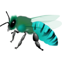 download Honeybee clipart image with 135 hue color