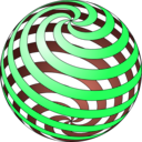 download Spiral Ball clipart image with 135 hue color