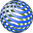download Spiral Ball clipart image with 225 hue color