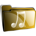 download Folder Icon Red Music clipart image with 45 hue color