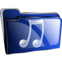 download Folder Icon Red Music clipart image with 225 hue color