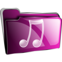 download Folder Icon Red Music clipart image with 315 hue color