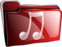 Folder Icon Red Music