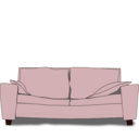 download The Couch clipart image with 315 hue color