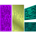 download Pcb 3 Color Electronics clipart image with 45 hue color