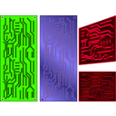 download Pcb 3 Color Electronics clipart image with 225 hue color