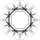 Geometric Motif 3 Outline