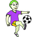 download Soccer Playing Boy Coloured clipart image with 45 hue color