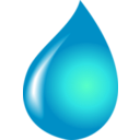 download Water Drop clipart image with 315 hue color