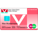 download Bankcard With Text clipart image with 135 hue color