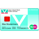 download Bankcard With Text clipart image with 315 hue color