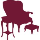 download Armchair And Table clipart image with 135 hue color