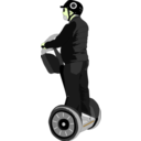 download Man On Segway clipart image with 45 hue color