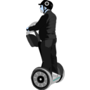 download Man On Segway clipart image with 180 hue color