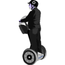 download Man On Segway clipart image with 225 hue color