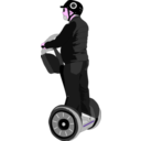 download Man On Segway clipart image with 270 hue color