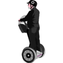 download Man On Segway clipart image with 315 hue color