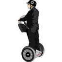 download Man On Segway clipart image with 0 hue color