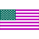 download Us Flag clipart image with 315 hue color