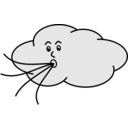 download Wind Blowing Cloud clipart image with 135 hue color