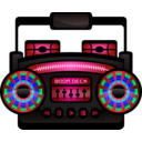 download Mini Boom Box clipart image with 135 hue color