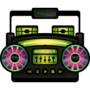 download Mini Boom Box clipart image with 225 hue color