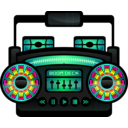 download Mini Boom Box clipart image with 315 hue color