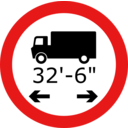Roadsign Lorry Length