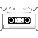 download Tape Cassette clipart image with 225 hue color