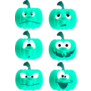 download Pumpkin Faces clipart image with 135 hue color