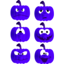 download Pumpkin Faces clipart image with 225 hue color