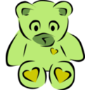 download Teddy Bear With Hearts clipart image with 45 hue color