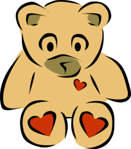 Teddy Bear With Hearts