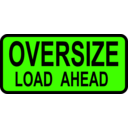 download Caution Oversized Load Ahead clipart image with 45 hue color