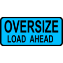 download Caution Oversized Load Ahead clipart image with 135 hue color