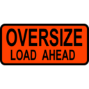download Caution Oversized Load Ahead clipart image with 315 hue color