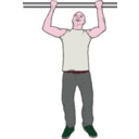 download Chin Up Man clipart image with 315 hue color