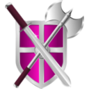 download Sword Battleaxe Shield clipart image with 315 hue color