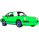 download Sport Car Yellow clipart image with 90 hue color
