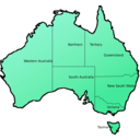 download Australia Map clipart image with 135 hue color