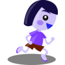 download Running Girl clipart image with 225 hue color